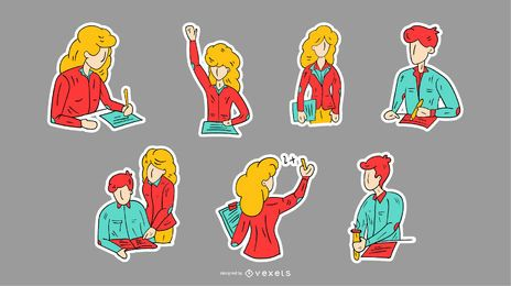 School Teacher Sticker Set