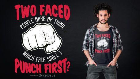 Diseño de camiseta Punch Quote