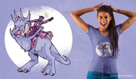 Tupfendes Monster T-Shirt Design