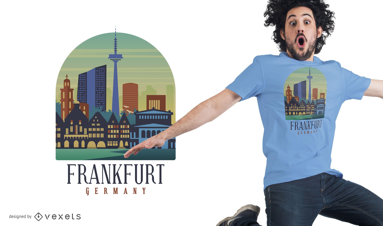 Diseño de camiseta de Frankfurt