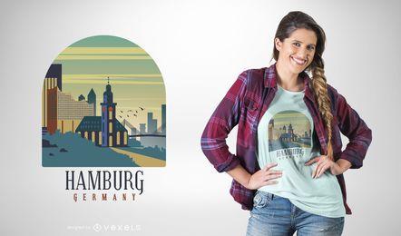 Diseño de camiseta de Hanburg