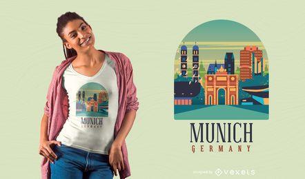 Diseño de camiseta de munich