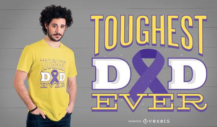 Diseño de camiseta de cáncer pancreático