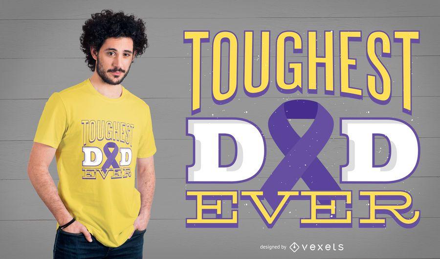 Design do t-shirt do cancro do pâncreas
