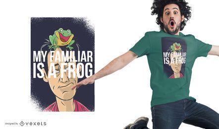 Diseño de camiseta de rana familiar
