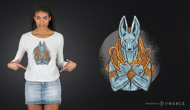 Diseño de camiseta de Anubis