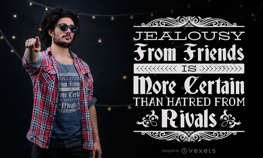 Jealousy Quote T-Shirt Design