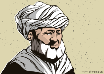 Mann mit Turban-Illustration