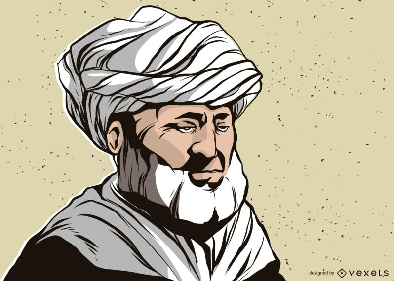 Man With Turban Illustration