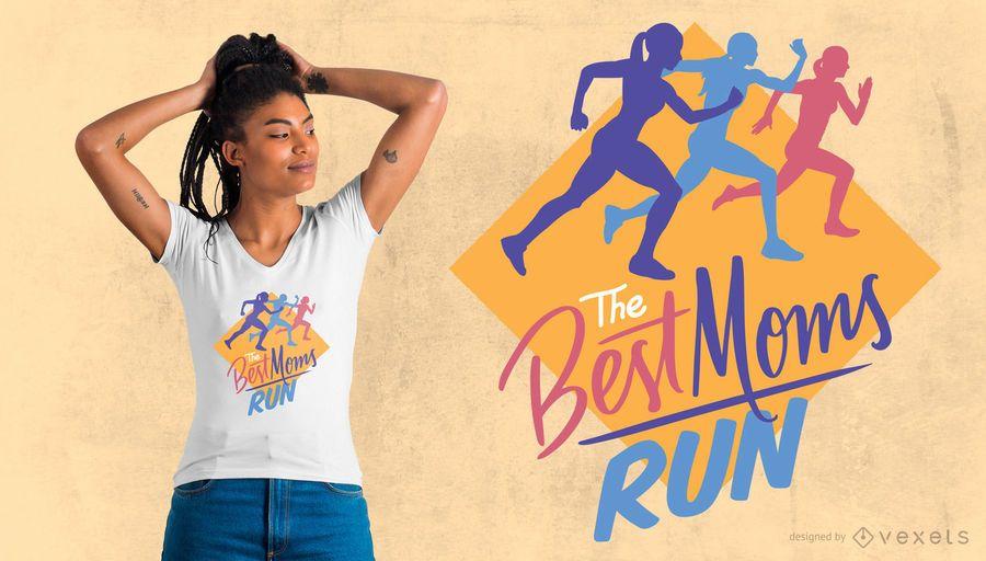 Diseño de camiseta Marathon Mom