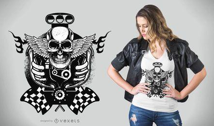 Design de camiseta de veículo a motor