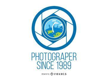 Modelo de logotipo do fotógrafo