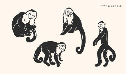 Monkey Doodle Vector Set