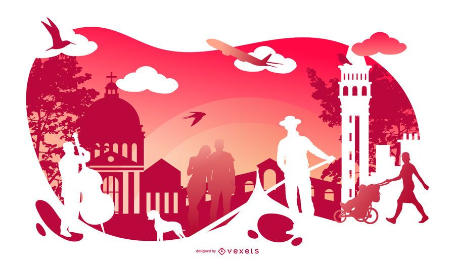 Italy Cultural Silhouette Design