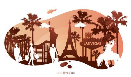 Travel Silhouette Bacground Design