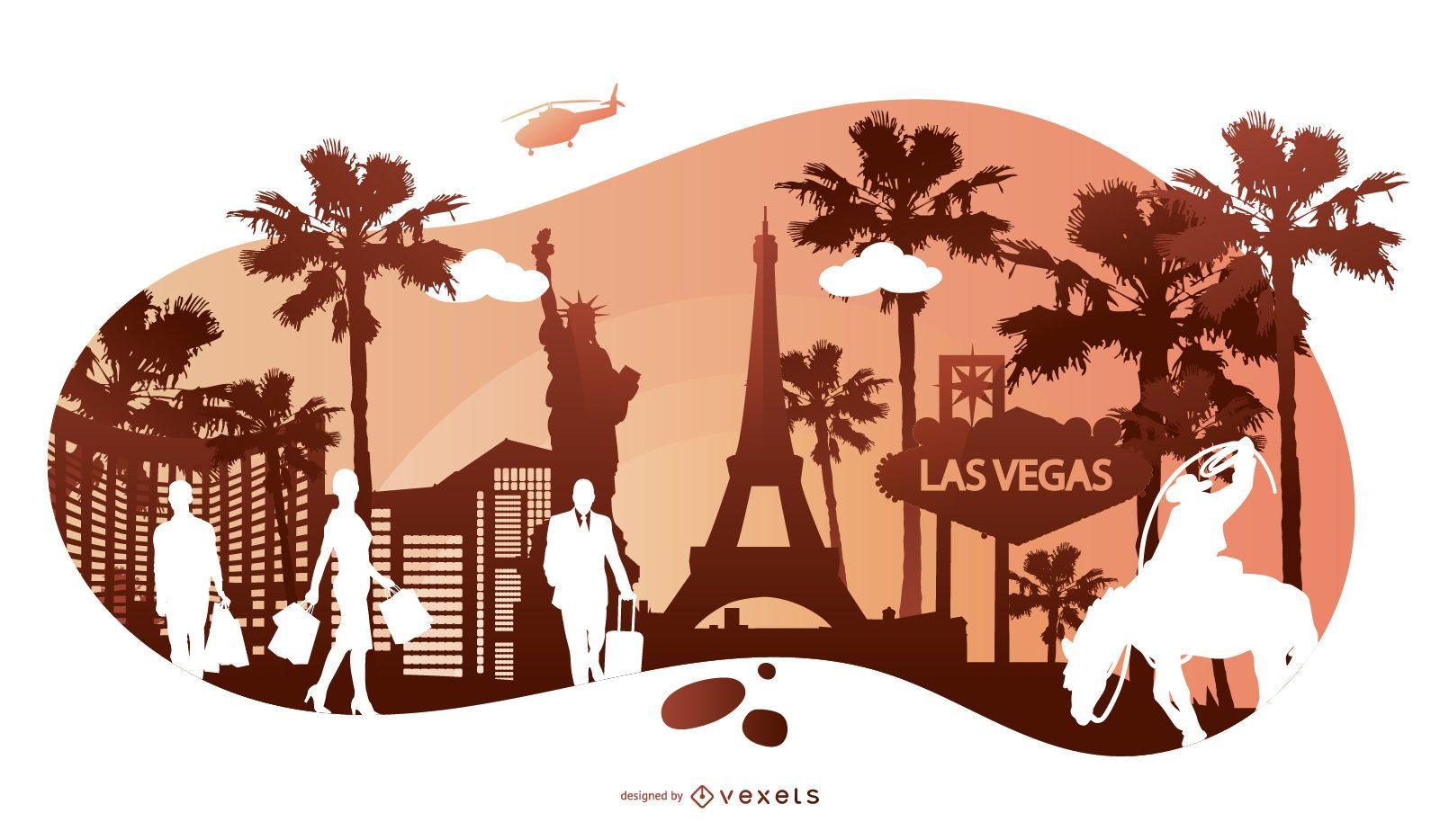 Travel Silhouette Bacground Design