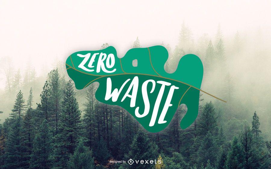 Zero Waste Lettering Design