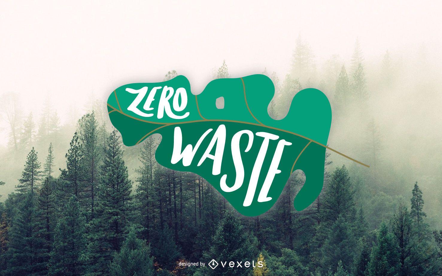 Diseño de letras Zero Waste