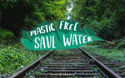 Plastic Free Lettering Design