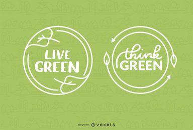 Design de emblemas de ambiente