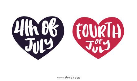 Fourth of July lettering Design