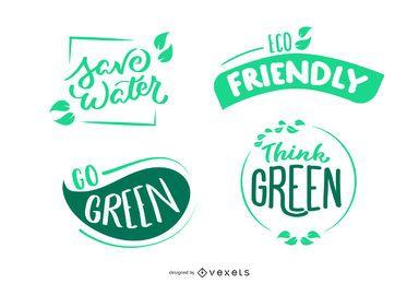 Conjunto de insignias de medio ambiente