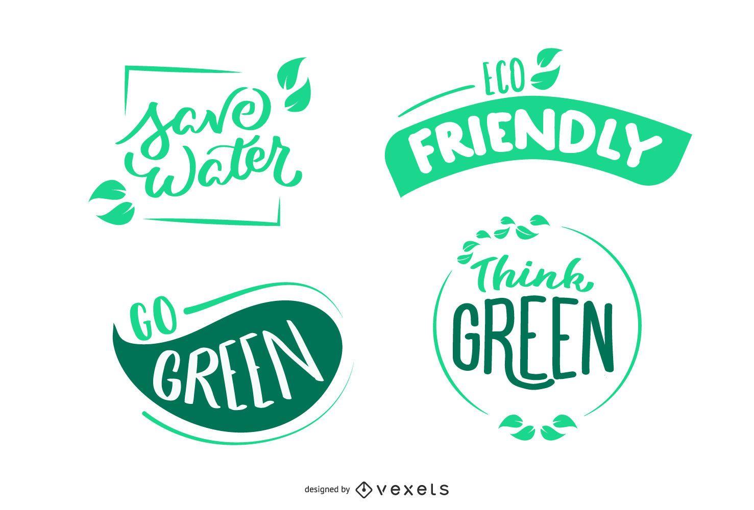 Environment Badges Set