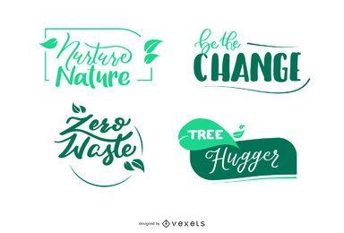 Colección de insignias de la naturaleza