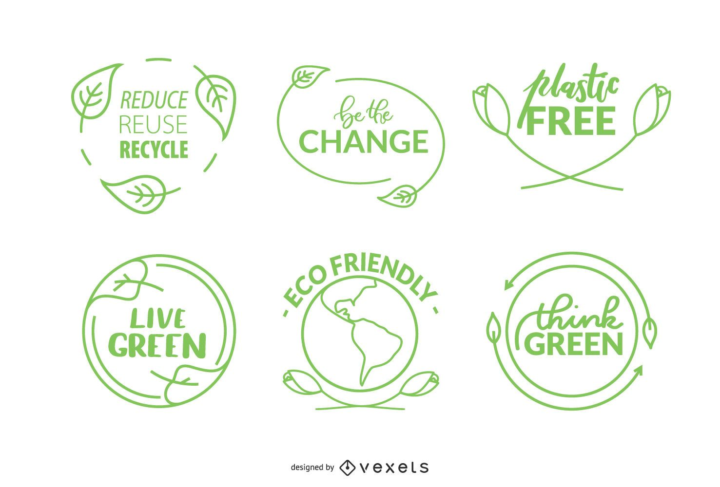 Nature Badges Icon Set