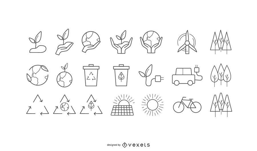 Coleção de ícones do ambiente