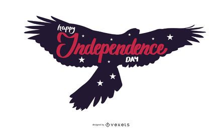 Feliz dia de la independencia ilustración