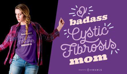 Projeto do t-shirt da mamã da fibrose cística