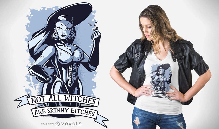 Cita de brujas diseño de camiseta