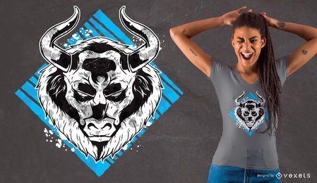 Diseño de camiseta de Angry Bull