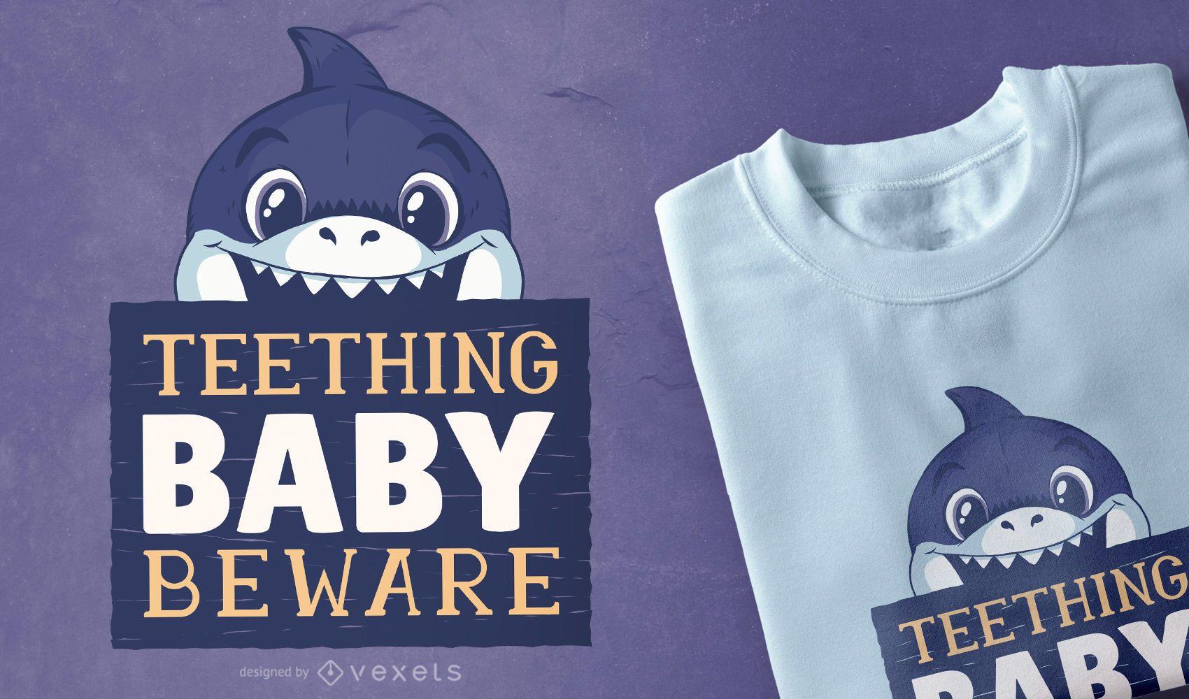 Diseño de camiseta Baby Biter