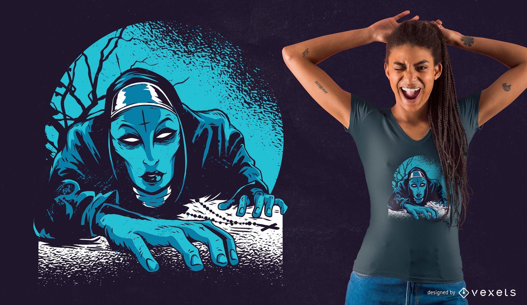 Dark Nun T-Shirt Design