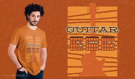 Diseño de camiseta de papá de guitarra