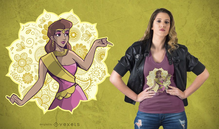 Princesa indiana T-shirt Design