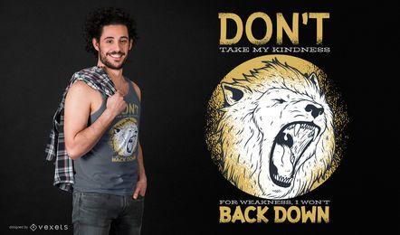 Design de camiseta com citação de fraqueza