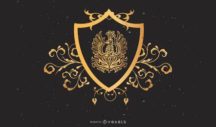 Escudo heráldico ornamentado