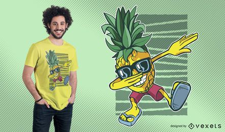Pineapple Dabbing T-Shirt Design