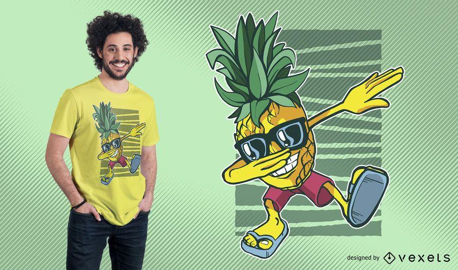 Design de camiseta com abacaxi