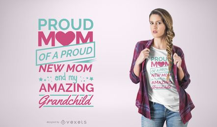 Proud Mom Quote T-Shirt Design