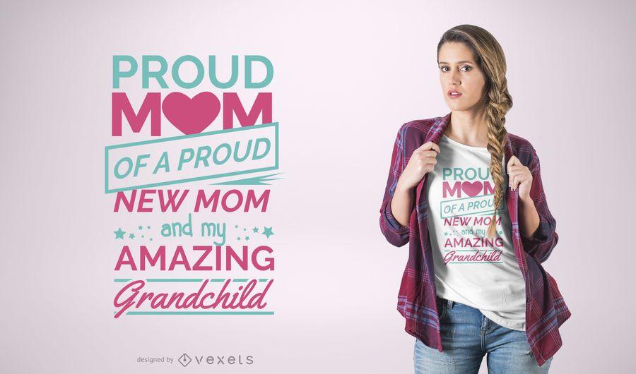 Proud Mom Quote T-Shirt Design