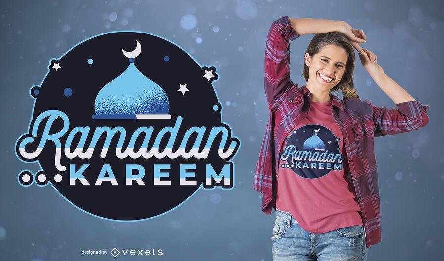 Diseño de camiseta Ramadán
