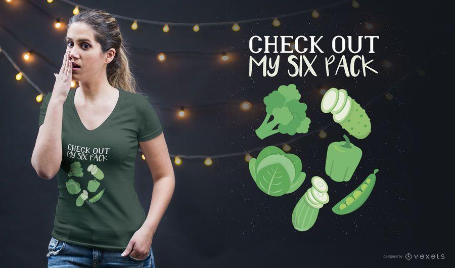 Six Pack T-Shirt Design