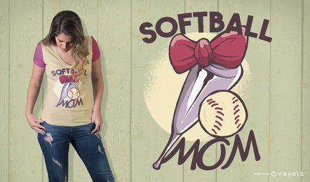 Diseño de camiseta de mamá de softbol
