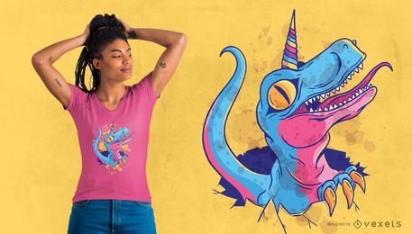 Einhorn-Dinosaurier-T-Shirt Design