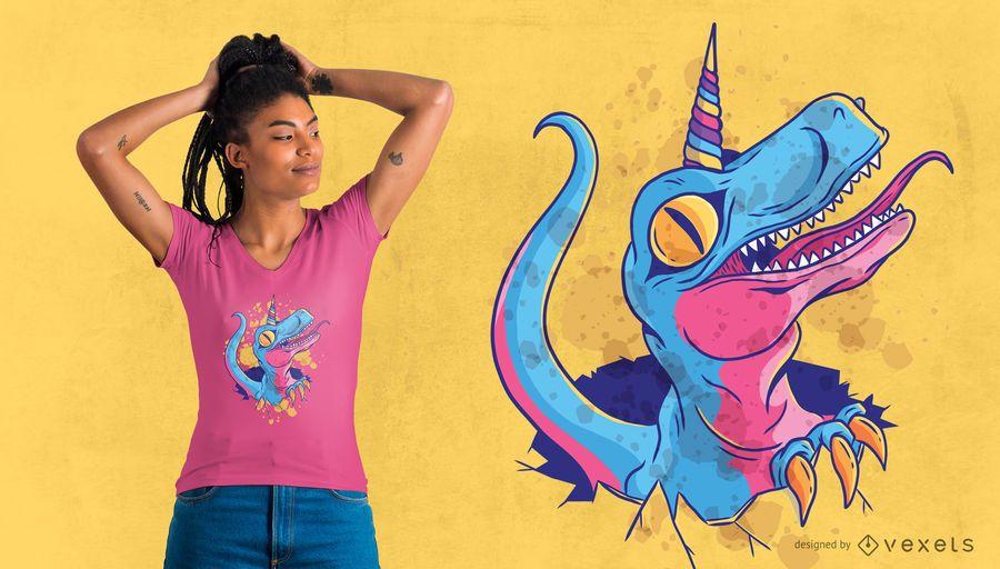 Diseño de camiseta de dinosaurio Unicornio