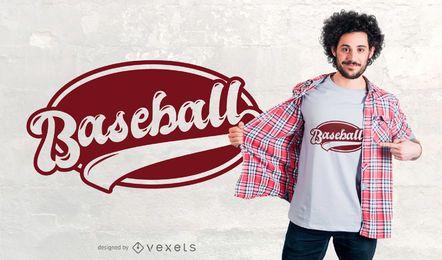 Projeto do t-shirt do emblema do basebol